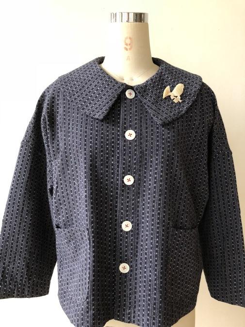 着物リメイク・絣の着物から大きな襟ジャケット_d0127925_22252197.jpg