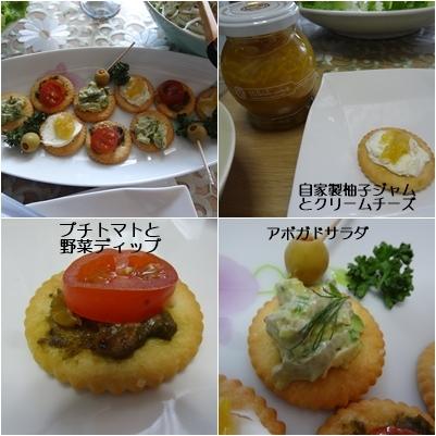 ホームパーティ & 紫陽花_a0084343_14130512.jpg