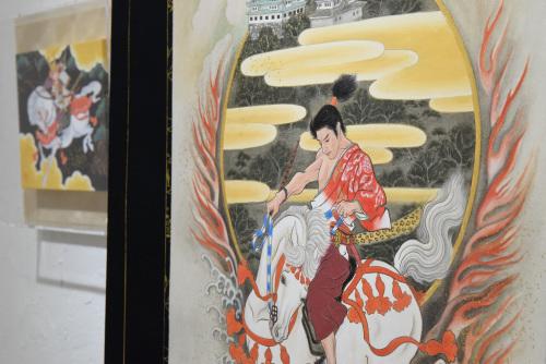 中沢 梓 大和絵展 「刻一刻」@最終日_e0272050_15504418.jpg
