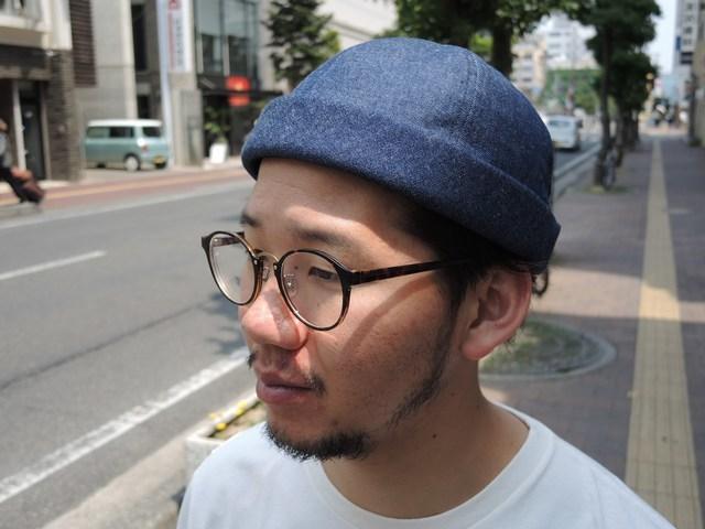 Denim Roll Cap 再入荷☆_b0316864_19085412.jpg