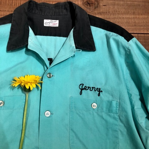 """1950s \"""" The conqueror - BOWLING SHIRTS - \"""" 100% cotton TWO-TONE VINTAGE TRUCKER SHIRTS ._d0172088_21014461.jpg"""