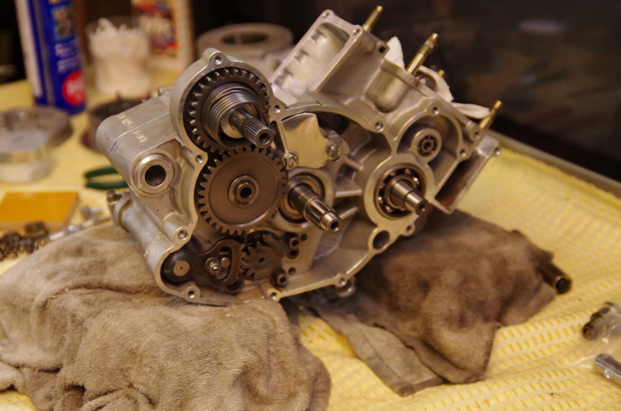 【tm125EN】エンジン組立(その8)ミッション再点検、分解_e0159646_3391315.jpg