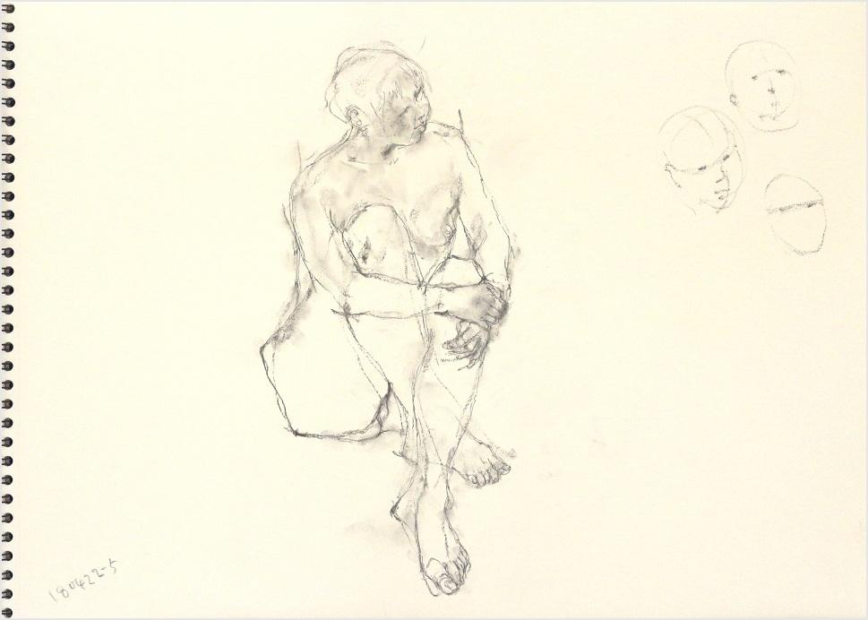 《 「四月卯月裸婦素描」2 》_f0159856_08164957.jpg