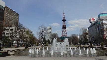 大通公園の春景色 噴水・木蓮・こぶし_f0362073_18032860.jpg