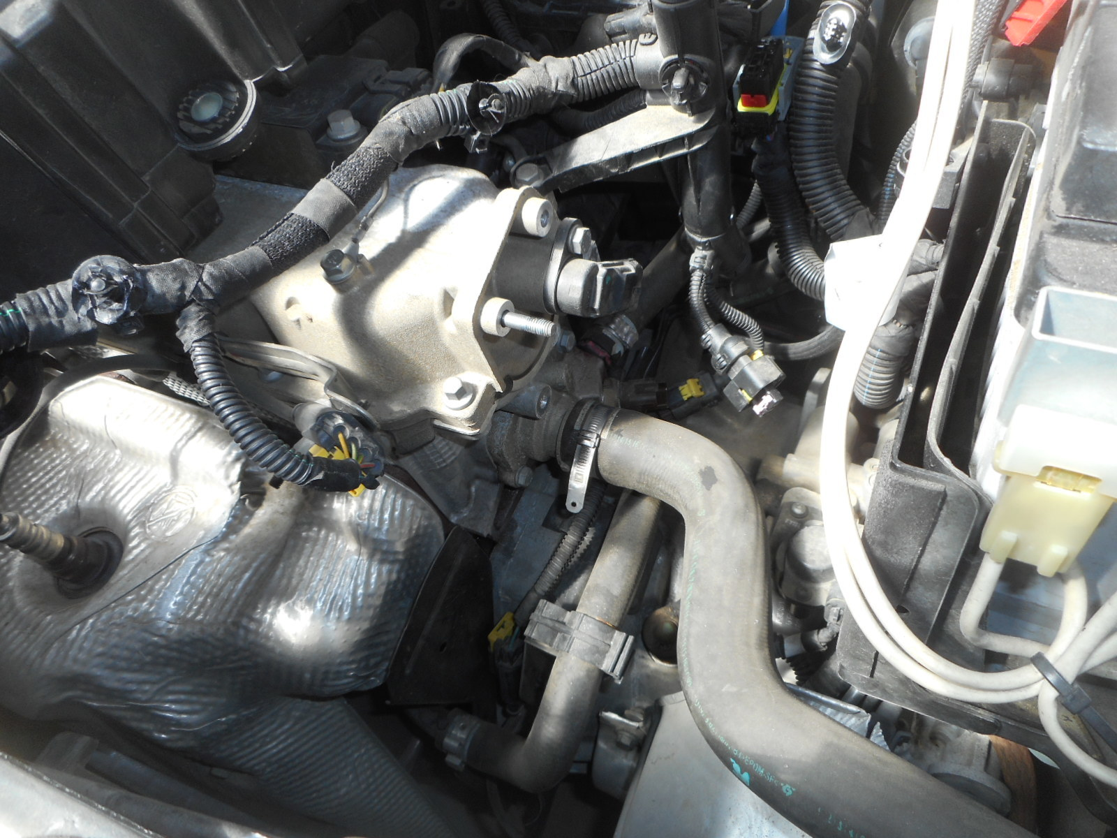 フィアット500 冷却水漏れ 整備(サーモスタット交換)_c0267693_17572776.jpg