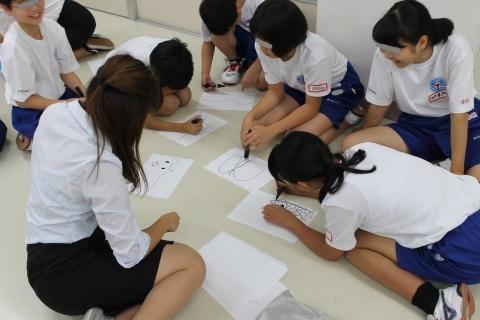 新潟県立燕中等教育学校において「想像を超えた世界」のワークショップを行いました。_c0167632_16505736.jpg