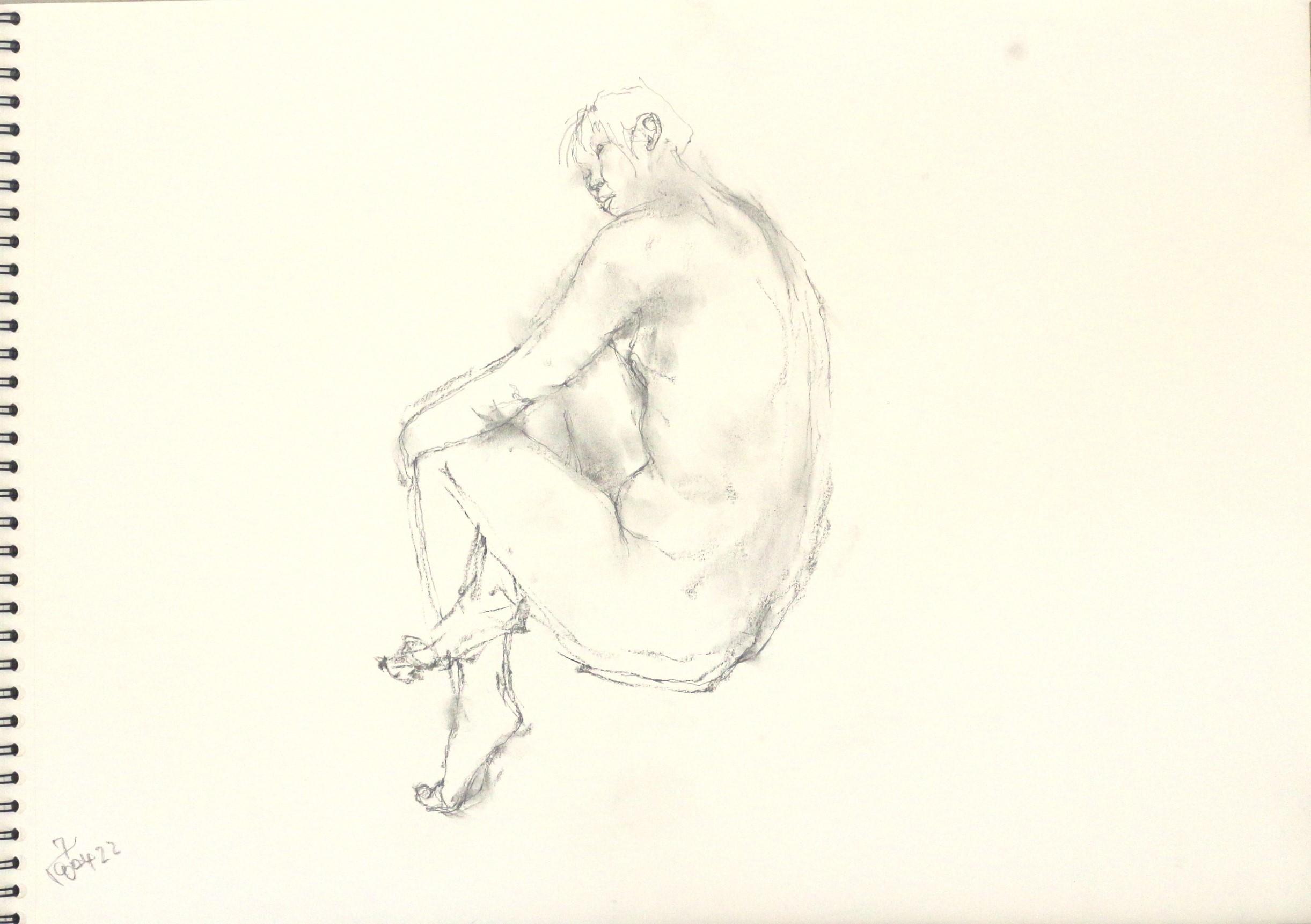 《 「四月卯月裸婦素描」3 》_f0159856_08521895.jpg