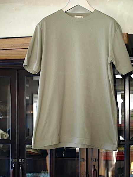 着ると良さが分かるMILFOIL オーガニックコットンメンズ半袖カットソー_e0122680_21430776.jpg