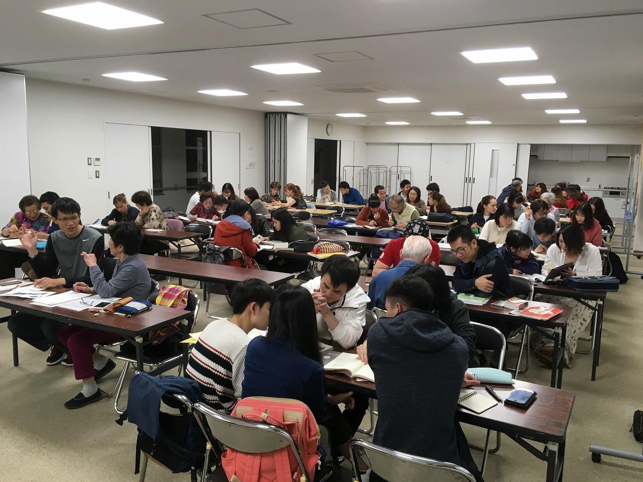 水曜日夜 永和教室の新しい教室の活動状況_e0175020_16031567.jpg