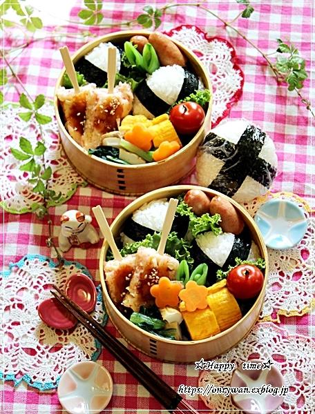 おむすび弁当とすずらんとわんこ♪_f0348032_18210696.jpg