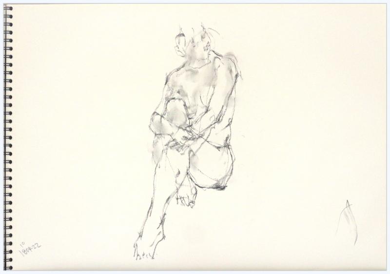 《 「四月卯月裸婦素描」 Ⅴ  》_f0159856_21271029.jpg