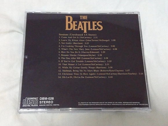 THE BEATLES / SESSIONS_b0042308_03042709.jpg