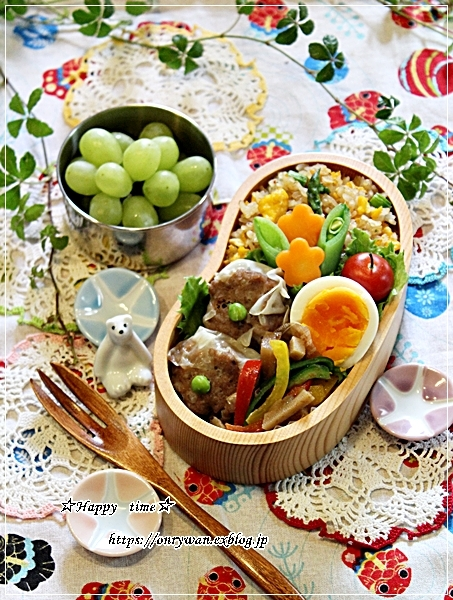 アスパラ炒飯・焼売弁当と~♪_f0348032_18505438.jpg