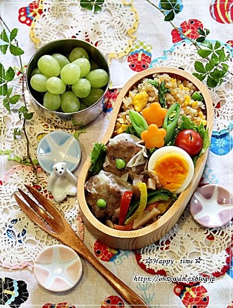 アスパラ炒飯・焼売弁当と~♪_f0348032_18510239.jpg