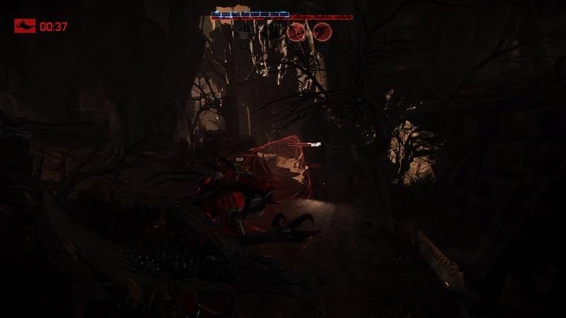 ゲーム「EVOLVE Wraith(Savage skin)でハンター惨殺(ハンター側有利設定」_b0362459_21235198.jpg