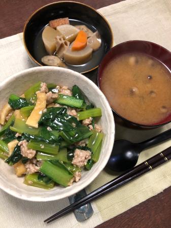 小松菜と豚肉のまかない丼_d0235108_21484095.jpg