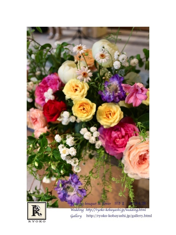 Wedding bouquet & flower Hさま 2018.4.28_c0128489_17524927.jpg