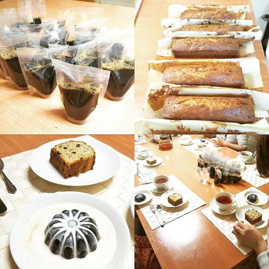 カレンツと紅茶のパウンドケーキ&コーヒーゼリー_d0138307_21442057.jpg