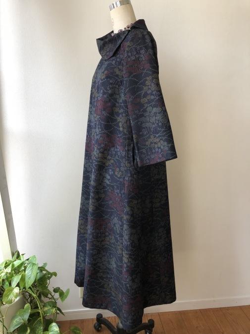 着物リメイク・紬の着物から変わり襟のワンピ_d0127925_14305114.jpg