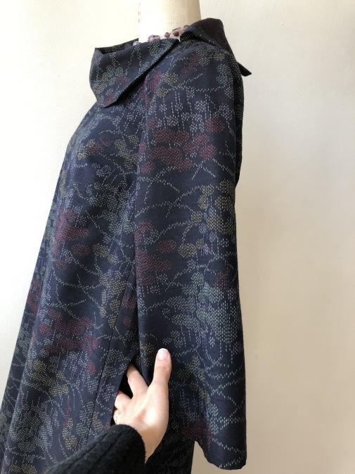 着物リメイク・紬の着物から変わり襟のワンピ_d0127925_14310256.jpg