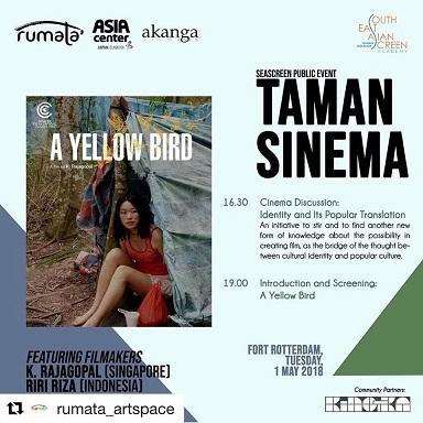 マカッサルでシンガポールの映画:A Yellow Bird(監督:K. Rajagopal)の上映と討論会@Taman Sinema_a0054926_18481382.jpg