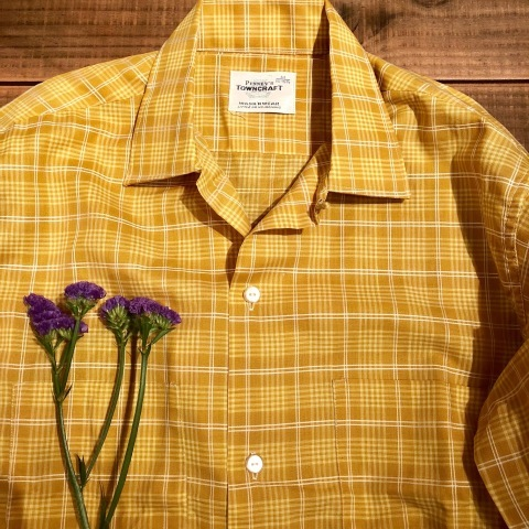 "1960s "" PENNEY\'S -TOWN CRAFT- \"" 100% combed cotton VINTAGE BOX-TAIL CH SHIRTS \"" N.O.S \"" ._d0172088_21391853.jpg"