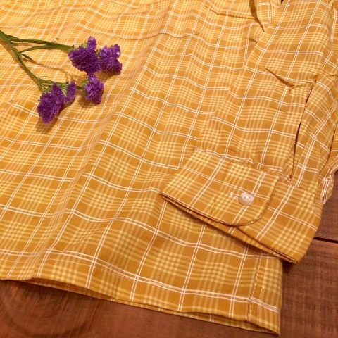 "1960s "" PENNEY\'S -TOWN CRAFT- \"" 100% combed cotton VINTAGE BOX-TAIL CH SHIRTS \"" N.O.S \"" ._d0172088_21403095.jpg"