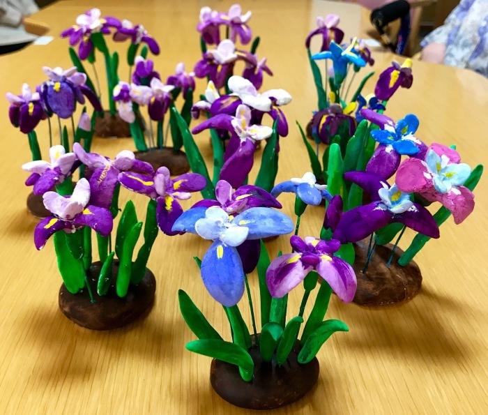 粘土教室 花しょうぶ_f0395434_20135563.jpg