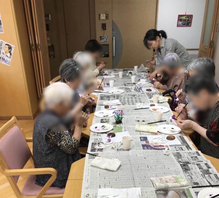 粘土教室 花しょうぶ_f0395434_20213393.jpg