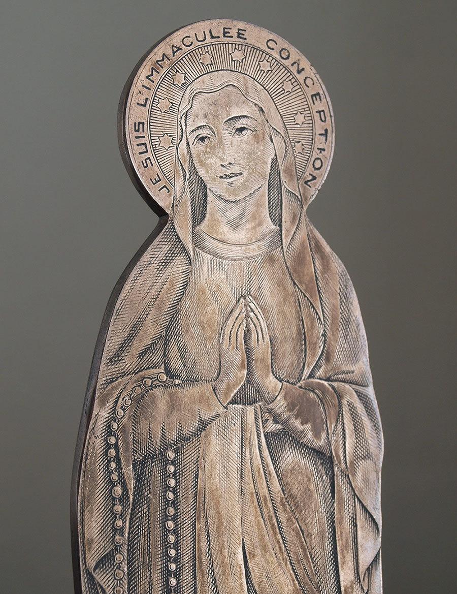 南仏ルルド 聖母マリア像 22.5cm   / F189_e0324838_01270808.jpg
