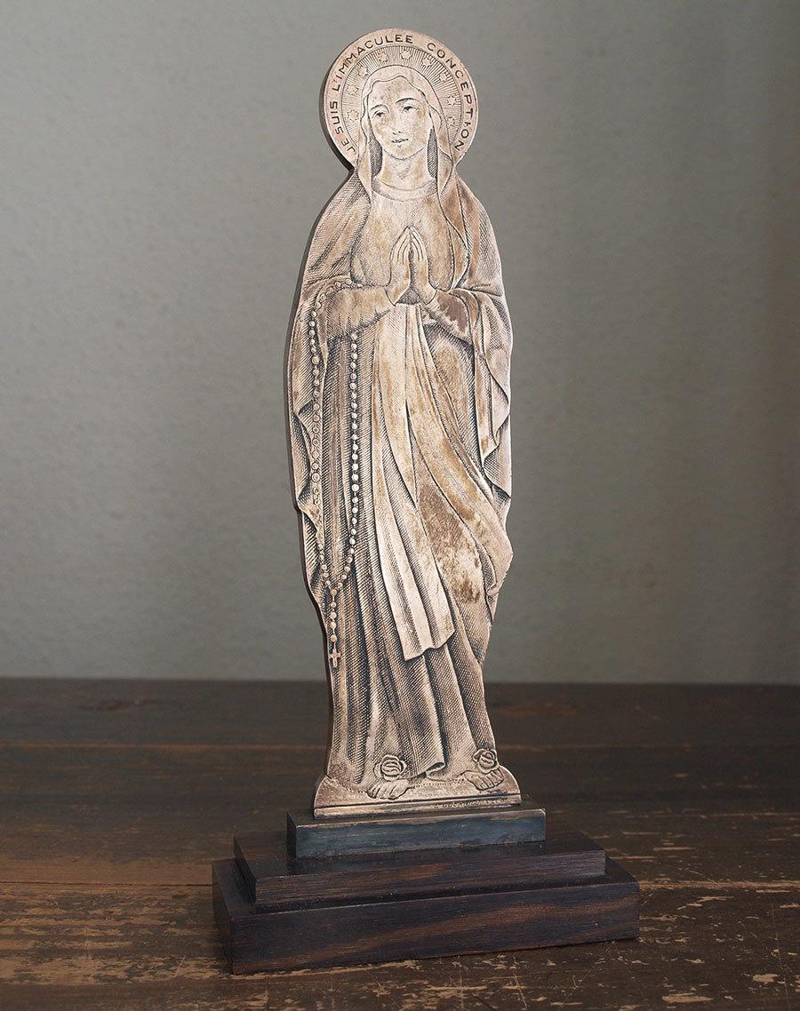 南仏ルルド 聖母マリア像 22.5cm   / F189_e0324838_01273812.jpg
