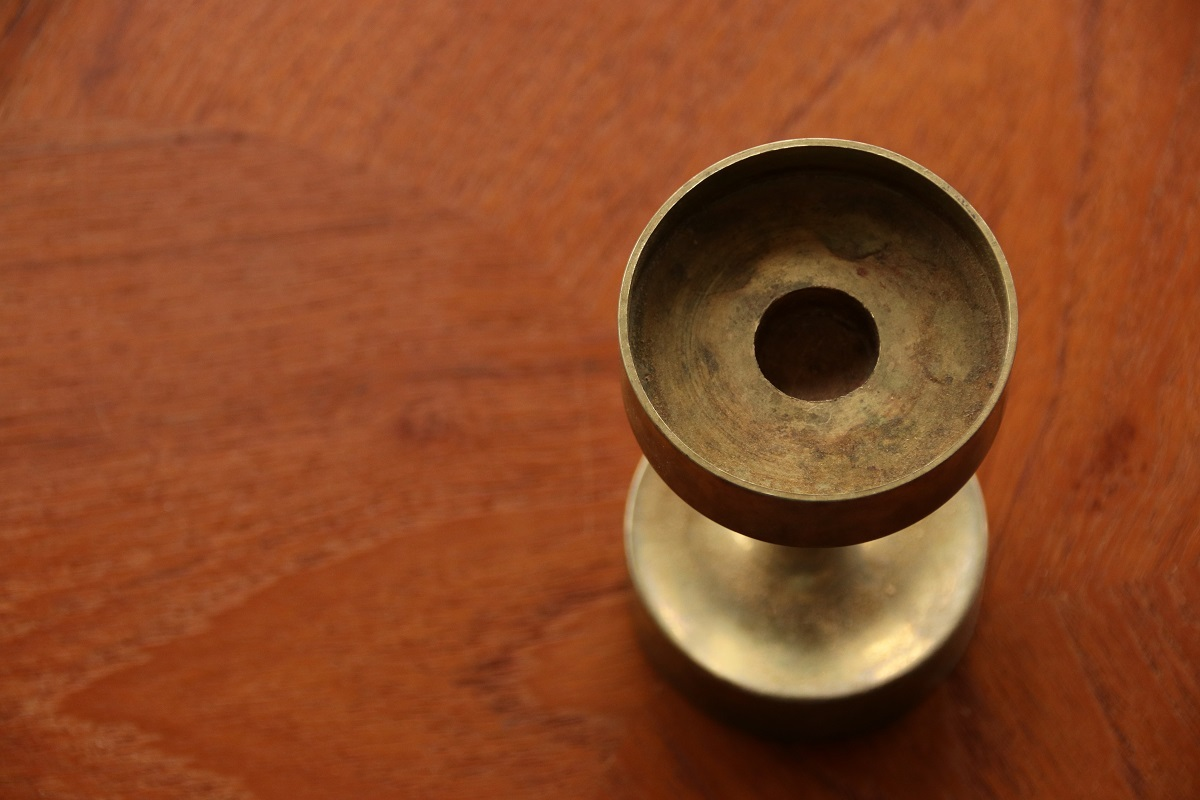 『brass candle stand』_c0211307_18505530.jpg