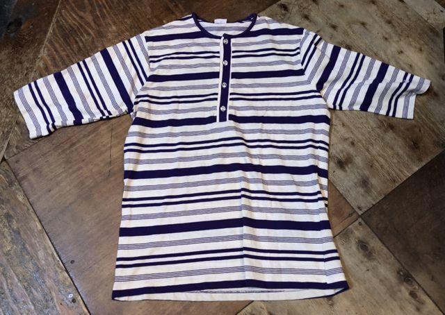 5月5日入荷! 70s~HANG TEN ボーダーヘンリーネック Tシャツ!_c0144020_14081922.jpg
