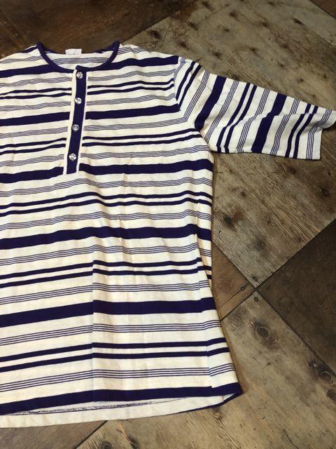 5月5日入荷! 70s~HANG TEN ボーダーヘンリーネック Tシャツ!_c0144020_14082118.jpg