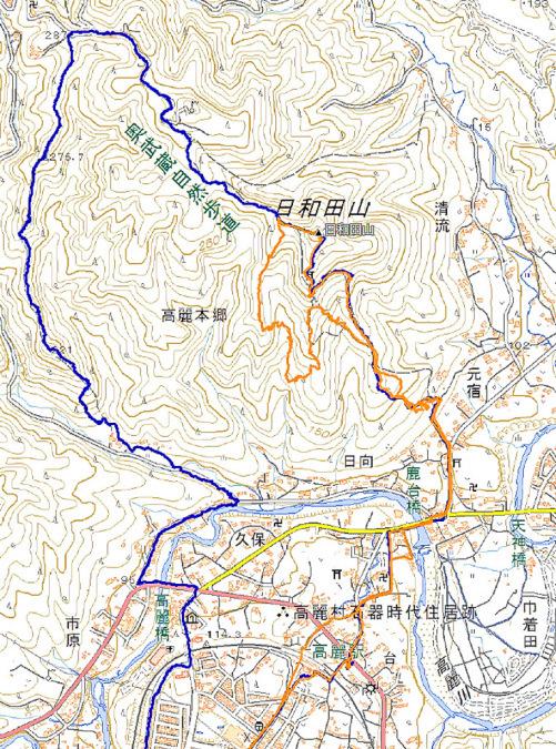 今日の散歩、ちょっと遠回りして日和田山へ_b0010915_21303398.jpg