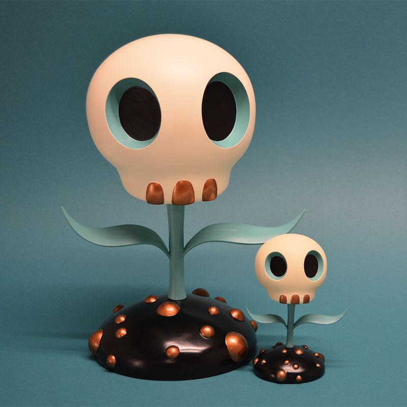 Skull Flower by Tara McPherson_e0118156_17213135.jpg