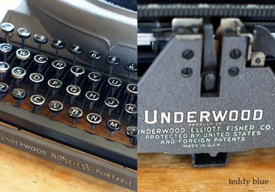 antique underwood typewriter アンティーク アンダーウッドタイプライター_e0253364_10121119.jpg