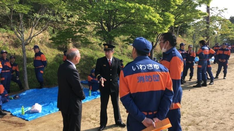 2018.4.29 いわき市消防団春季検閲式_a0255967_10375387.jpg