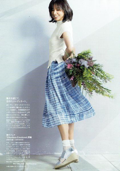 クロワッサン3/25特大号 レキップを着る山口智子さんのブーケ_c0072971_16070191.jpg