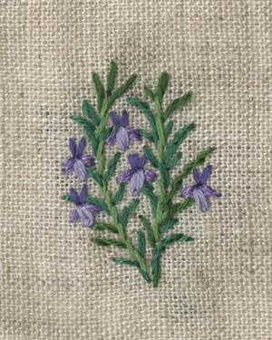 ローズマリーの刺繍をしました。_a0138978_21502499.jpg