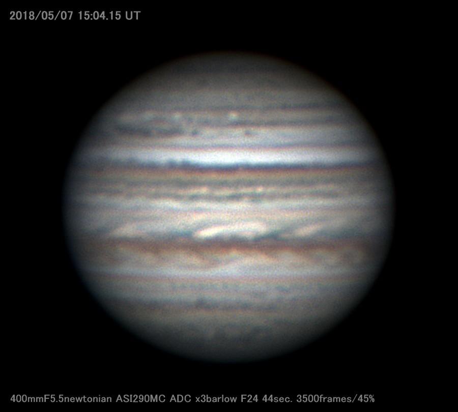 梅雨入り直前の木星を撮る_a0095470_23112475.jpg