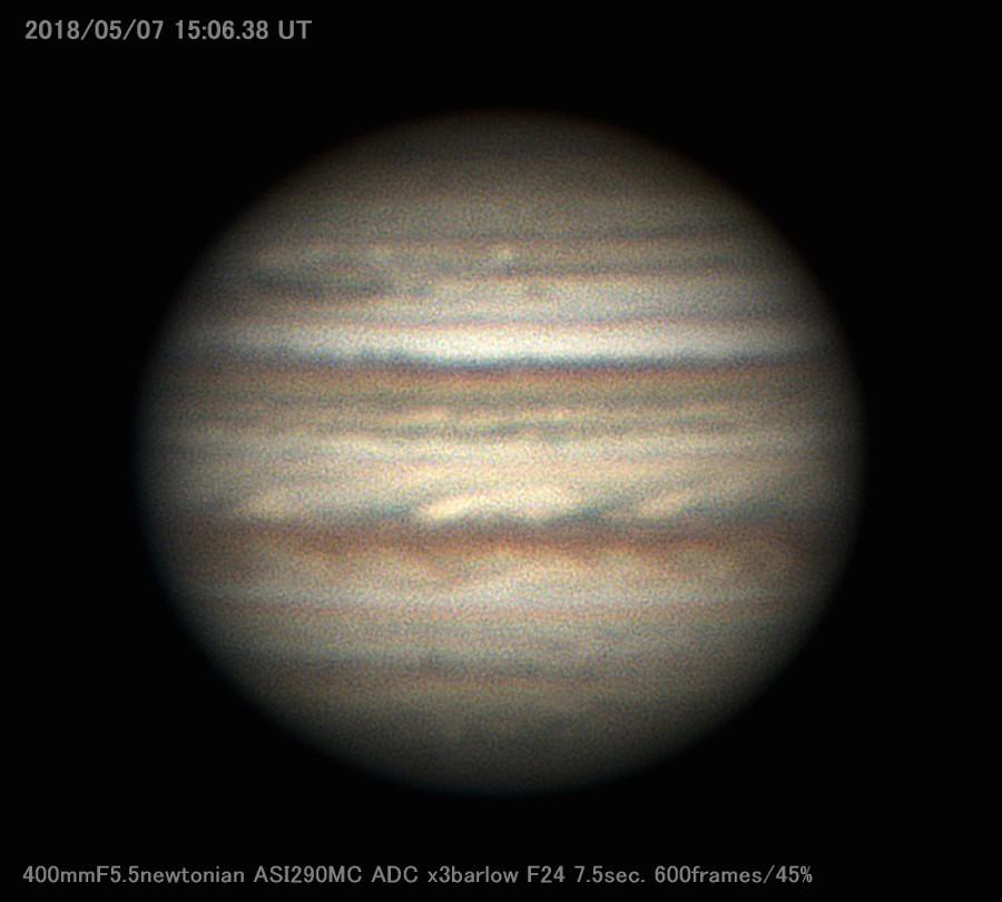 梅雨入り直前の木星を撮る_a0095470_23112832.jpg