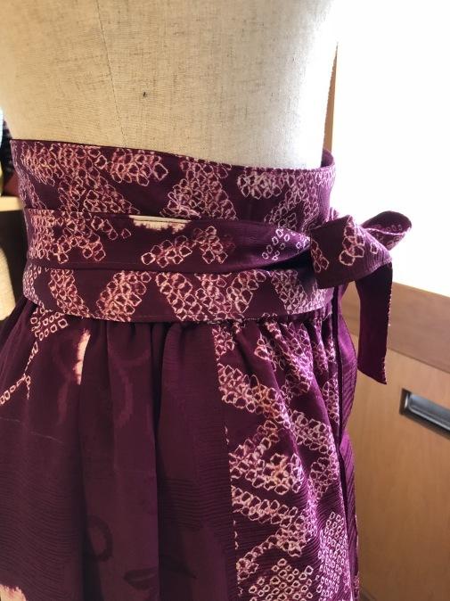 着物リメイク・絞りの羽織からマキシスカート_d0127925_10074841.jpg