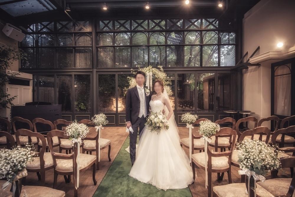 秋の装花 リストランテASOの花嫁様より、かすみそうのアーチの前のプロポーズ_a0042928_21042456.jpg