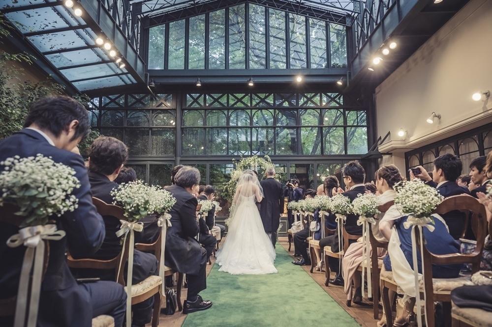 秋の装花 リストランテASOの花嫁様より、かすみそうのアーチの前のプロポーズ_a0042928_21043839.jpg