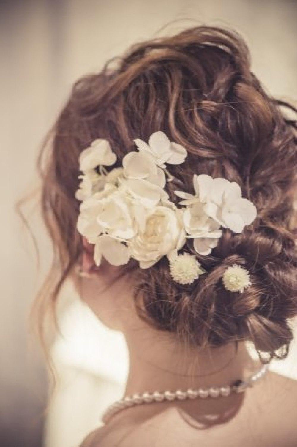 秋の装花 リストランテASOの花嫁様より、かすみそうのアーチの前のプロポーズ_a0042928_21045835.jpg