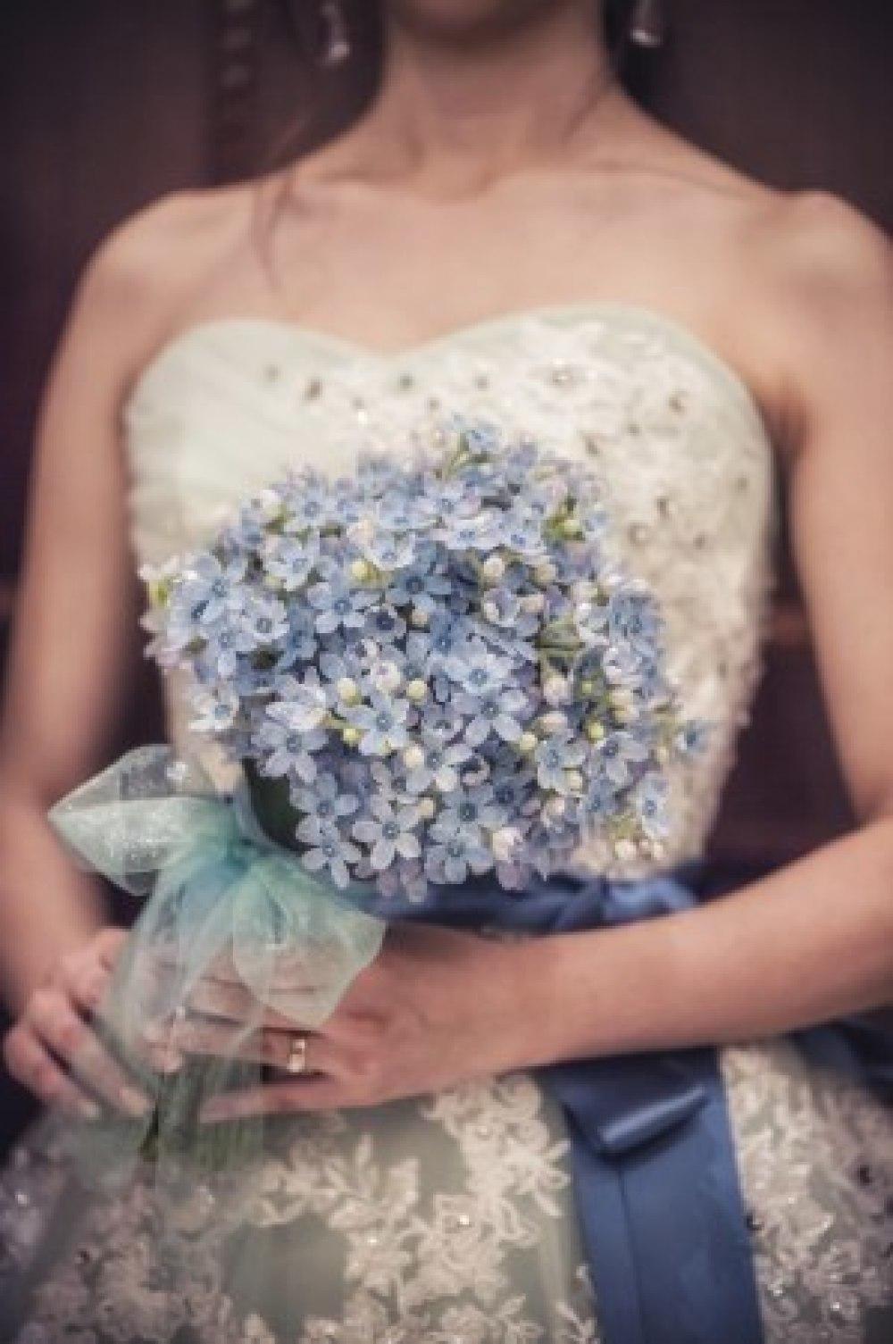秋の装花 リストランテASOの花嫁様より、かすみそうのアーチの前のプロポーズ_a0042928_21050028.jpg