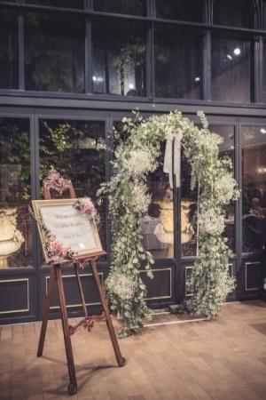 秋の装花 リストランテASOの花嫁様より、かすみそうのアーチの前のプロポーズ_a0042928_21050039.jpg