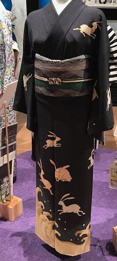 東京キモノショー・お洒落なコーディネイト・兎・象・鶴・・・。_f0181251_16353839.jpg