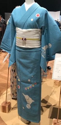東京キモノショー・お洒落なコーディネイト・兎・象・鶴・・・。_f0181251_16374441.jpg